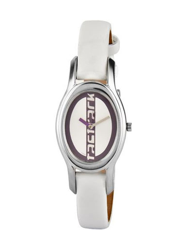 fastrack analog multi-color dial women's leather watch-NC6033SL02