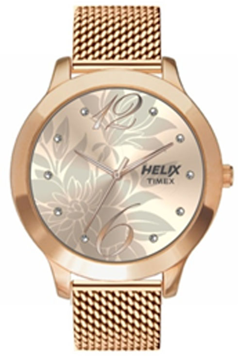 timex helix rose gold women watch tw022hl17-TW022HL17