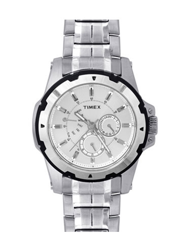 Timex E-Class Analog Silver Dial Men's Watch 909-D909