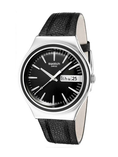 Swatch Gents Charcoal Suit Watch-YGS744