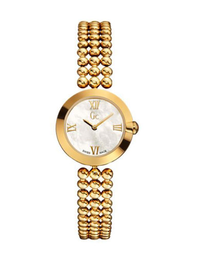 Gc Gold Tone Case Pearl Dial Analogue Ladies' Watch-X96003L1S
