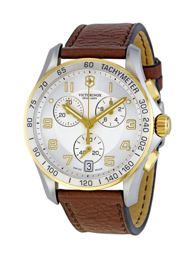 Victorinox Swiss Army Men's  Silver Dial Chronograph Watch-241510