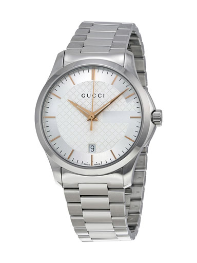 Gucci G-Timeless Silver Dial Stainless Steel Unisex Watch-YA126442