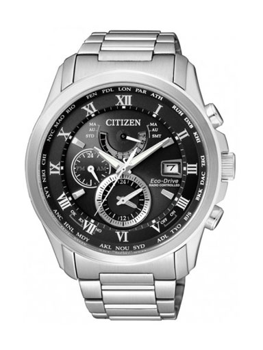 Citizen Eco-Drive Perpetual Calendar Black Dial AT9080-57E Men's Watch-AT9080-57E