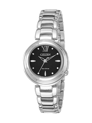 Citizen Eco-Drive Black Dial EM0331-52E Women's Watch-EM0331-52E
