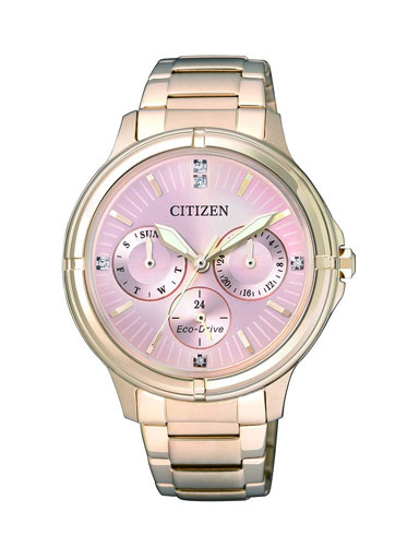 Citizen Eco-Drive Pink Dial FD2033-52W Women's Watch-FD2033-52W