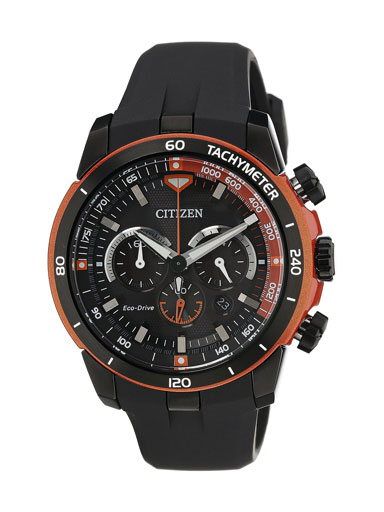 Citizen Eco-Drive Chronograph Black Dial CA4154-07E Men's Watch-CA4154-07E