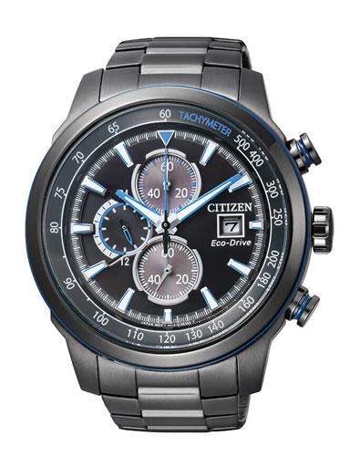 Citizen Eco-Drive Chronograph Black Dial CA0576-59E Men's Watch-CA0576-59E