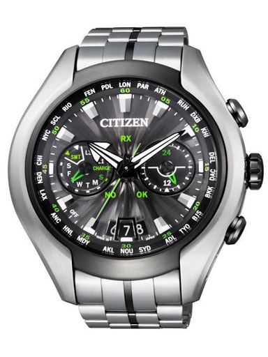 Citizen Eco-Drive Satellite Wave Air GPS Titanium Sapphire Japan Watch-CC1054-56E