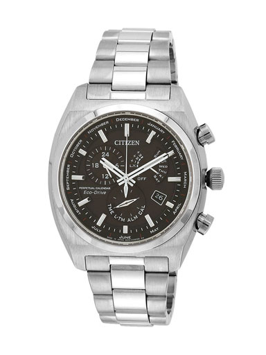 Citizen Eco-Drive Perpetual Calendar Black Dial BL8130-59E Men's Watch-BL8130-59E