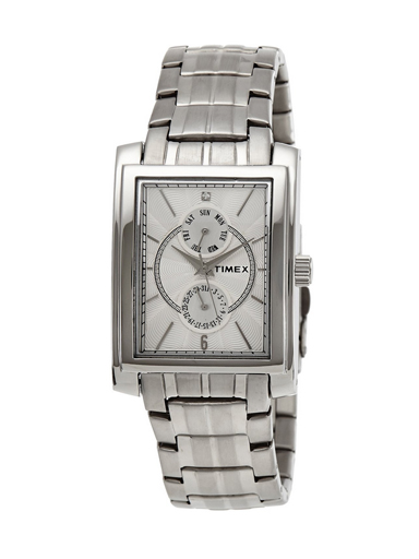 Timex E Class Analog Silver Dial Men's Watch-G705