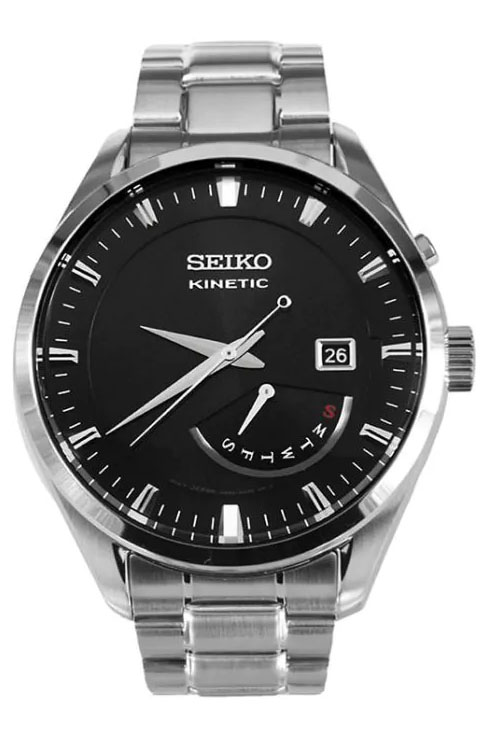Seiko Kinetic Black Dial SRN045P1 Men's Watch-SRN045P1