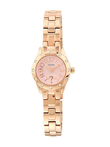 Guess Rose Gold Tone/Pink Analog Watch-W0307L3