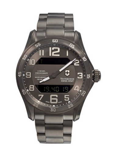 Victorinox Swiss Army Men's  Chrono Classic XLS MT Quartz Gunmetal watch-241300