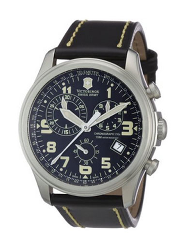Victorinox Swiss Army Men's  Infantry Vintage Chronograph Black Dial Watch-241314