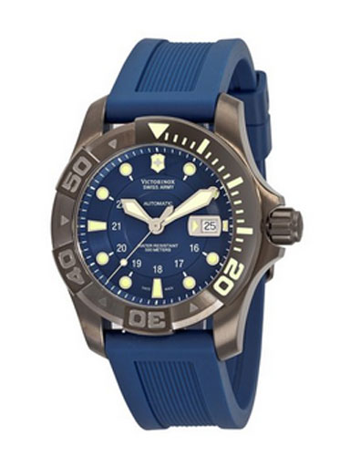 Victorinox Swiss Army Men's  Dive Master 500 Black Ice Blue Dial Watch-241425