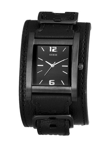 Guess Men's Buckle Up Black Analog Watch-W10609G1