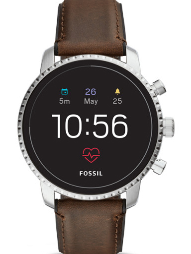 Fossil Men's Gen 4 Explorist HR Touchscreen Smartwatch-FTW4015