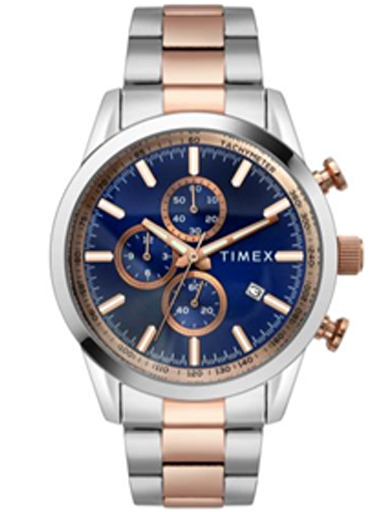 timex chronograph blue dial men watch tweg17607-TWEG17607