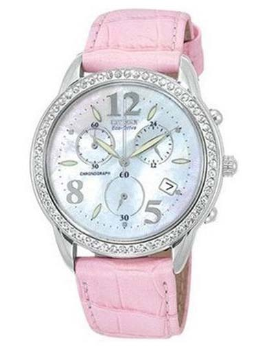 Citizen Eco-Drive Chronograph MOP Dial FA2010-14D Women's Watch-FA2010-14D