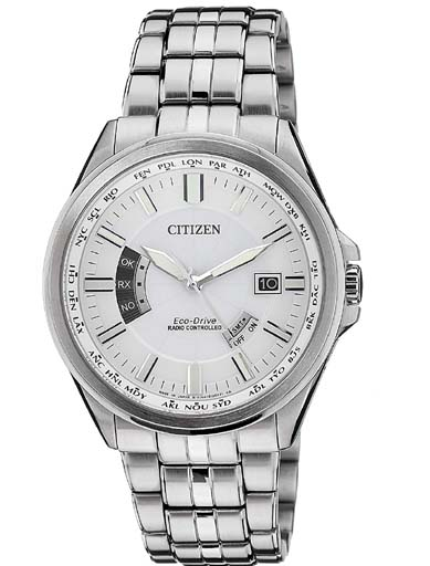 Citizen Eco-Drive Radio Controlled White Dial CB0011-51A Men's Watch-CB0011-51A
