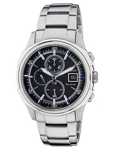 Citizen Eco-Drive Chronograph Black Dial CA0370-54E Men's Watch-CA0370-54E