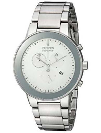 Citizen Axiom Eco-Drive White Dial AT2240-51A Men's Watch-AT2240-51A