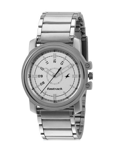 Fastrack Silver Analog Watch-NE3039SM01