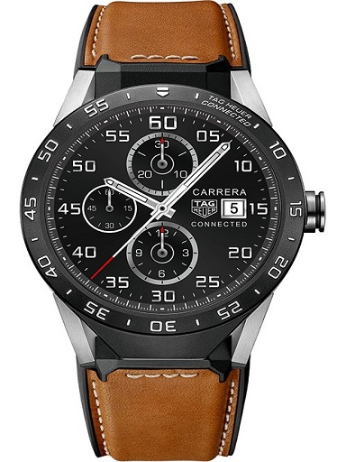 Tag Heuer Connected With Calskin Strap Men's Watch-SAR8A80.FT6070
