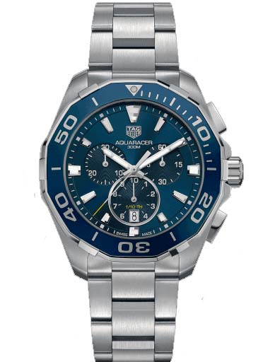 TAG Heuer Aquaracer Chronograph Blue Dial Men's Watch CAY111B.BA0927-CAY111B.BA0927
