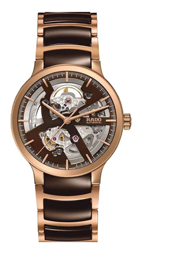 Rado Centrix Brown Skeleton Dial Automatic Men's Watch-R30181312