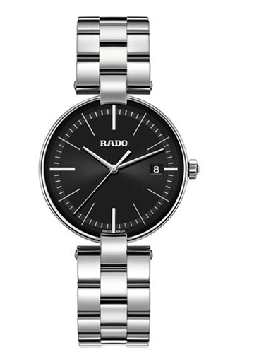 Rado Coupole Black Dial Stainless Steel Watch For Men-R22852163