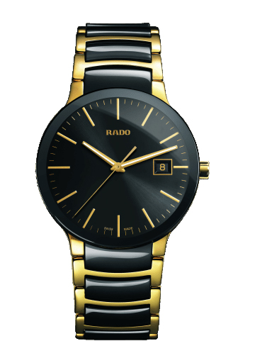 Rado Centrix Men Date Quartz Black Dial Watch-R30929152