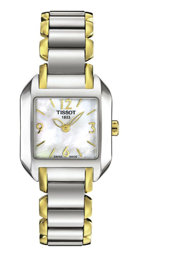 Tissot T-Wave Two-Tone Bracelet Quartz Women's Watch-T02228582