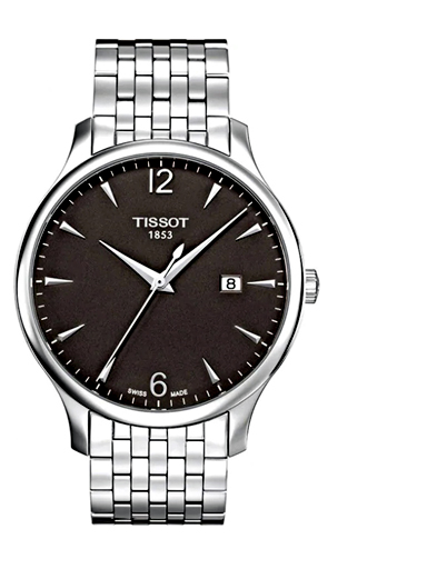 Tissot Tradition Quartz Anthracite Dial Men's Watch-T0636101106700
