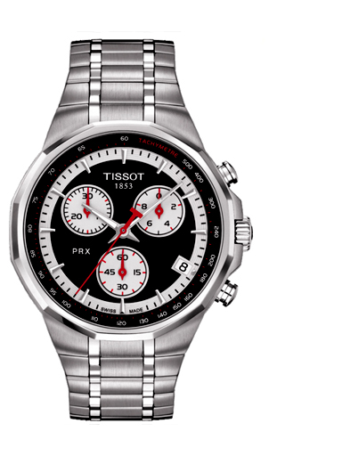 Tissot PRX Chronograph Stainless Steel Men's Watch-T0774171105101