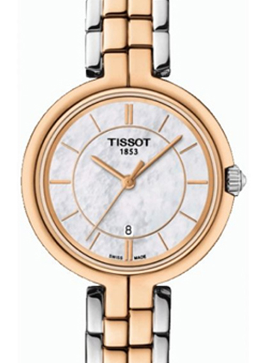 Tissot T-Lady Flamingo White MOP Dial Watch For Women's-T0942102211100