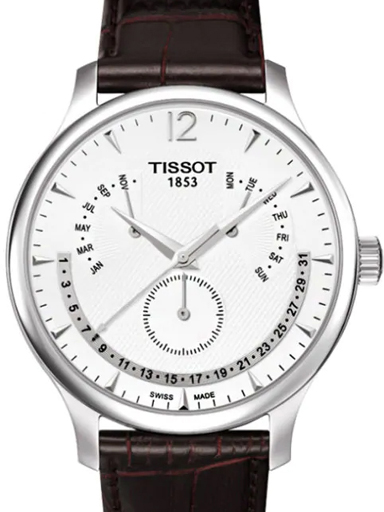 Tissot T Classic Tradition Perpetual Calendar Silver Dial Men's Watch-T0636371603700