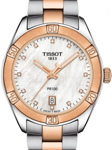 Tissot T Classic White MOP Dial Women's Watch-T1019102211600