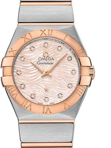 Omega Constellation Women's Quartz Pink Dial Watch-O12320276057004