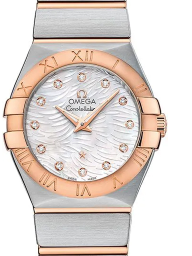 Omega Constellation Women's White MOP Dial Watch-O12320276055007