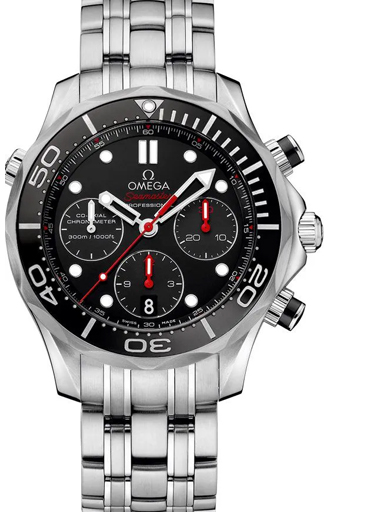 Omega Seamaster Diver 300 M Co-Axial Chronograph Watch for Men's-O21230425001001
