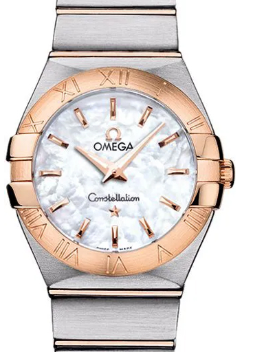 Omega  Constellation White Mother Of pearl Dial Women's Watch-O12320276005001