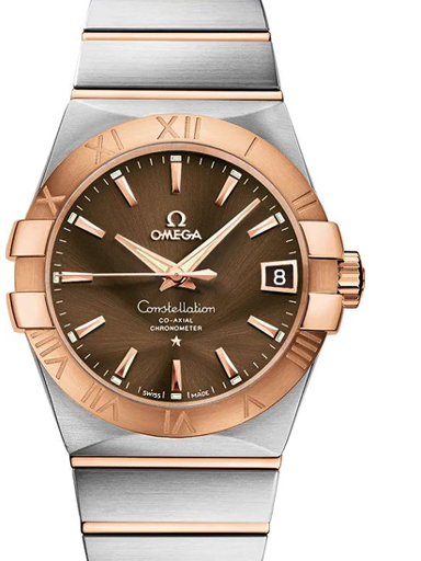 Omega  Constellation Brown Dial Automatic Men's Watch-O12320382113001