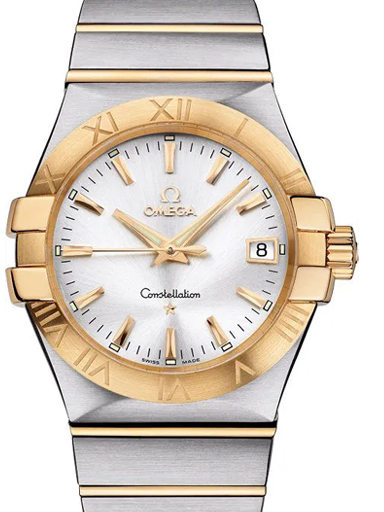 Omega Constellation Quartz 35 MM Steel Yellow Gold Men's Watch-O12320356002002