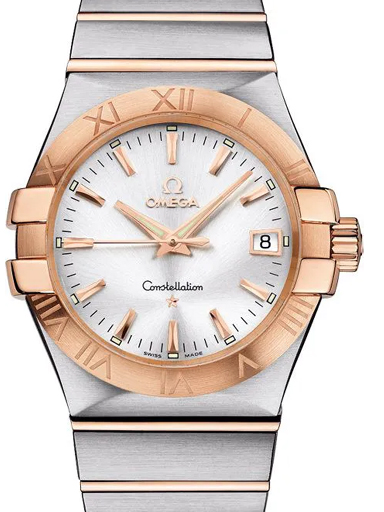 Omega Constellation Quartz Steel - Red Gold Date Unisex Watch-O12320356002001
