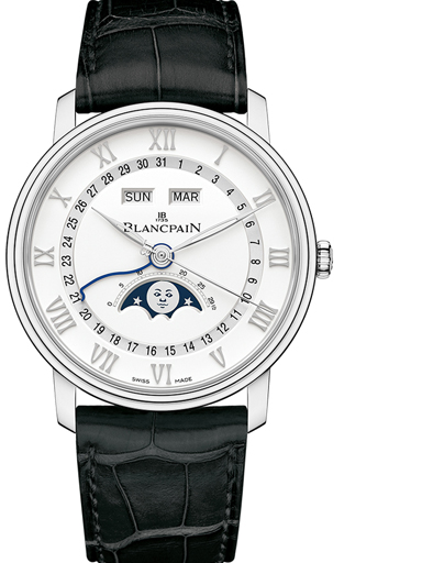 blancpain villeret moonphase watch-N06654A011027A055B