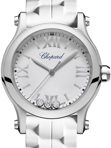 Chopard Happy Sport White Dial Women's Watch-278590-3001