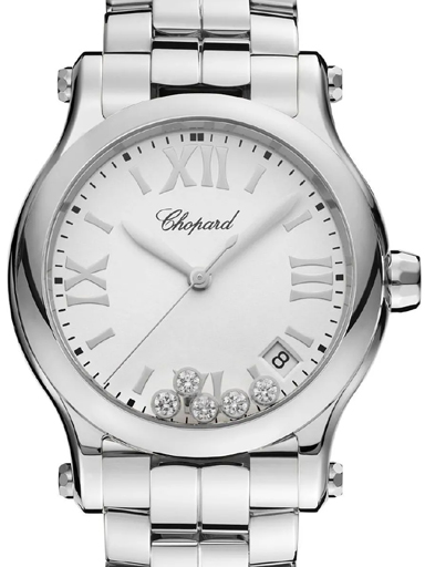 Chopard Happy Sport Round Quartz Women's Watch-278582-3002