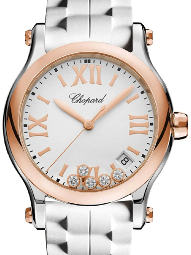 Chopard Happy Sport Rose Gold Women's Watch-278582-6001